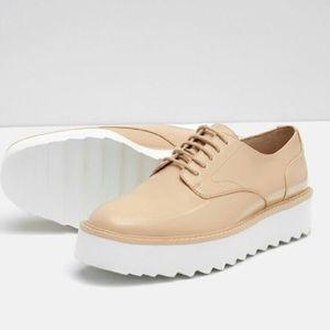 Zara Platform Bluchers, Sz 38